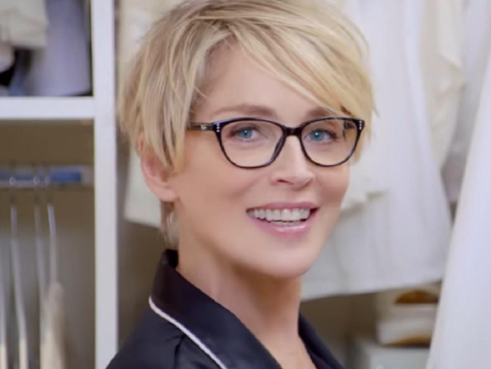 Coiffure sharon stone pub afflelou for Coupe de cheveux sharone stone