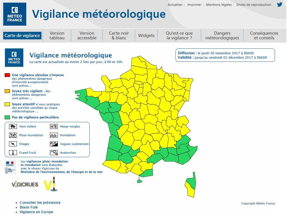 Neige et verglas : 9 départements en vigilance orange
