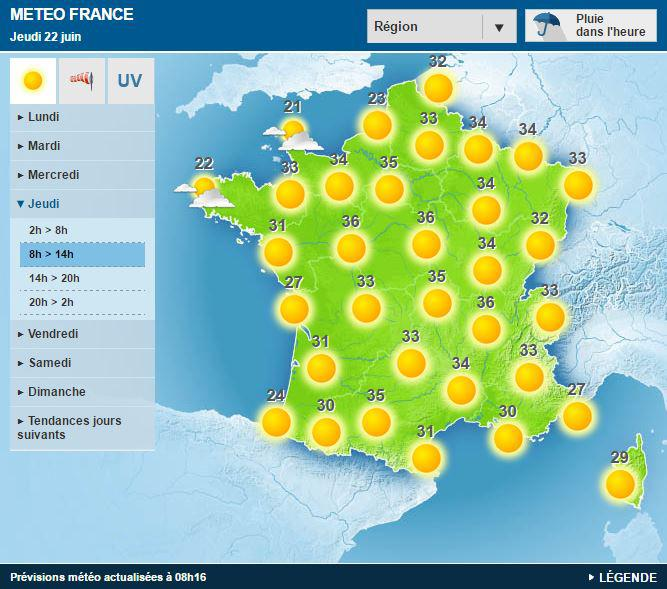 Canicule: 16 départements français en vigilance orange