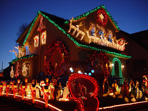 14 les d corations d 39 une maison de belleville new jersey for Decoration maison noel etats unis
