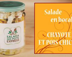 Salade en bocal : chayote et pois chiches