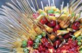 Brochettes de fruits au barbecue